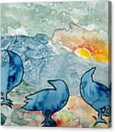 Crow Series 4 Canvas Print