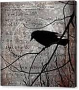 Crow Thoughts Collage Canvas Print
