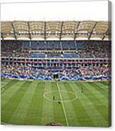 Crowd In A Stadium To Watch A Soccer Canvas Print