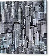 Crowded City Canvas Print
