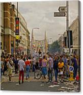Crowds At Carnival Notting Hill Celebrations Canvas Print