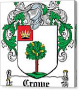 Crowe Coat Of Arms Irish Canvas Print