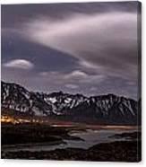 Crowley Lake At Night Canvas Print
