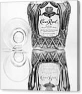 Crown Royal Black And White Canvas Print