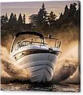 Crownline Boat Canvas Print