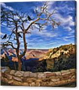 Crows Of The Grand Canyon Canvas Print