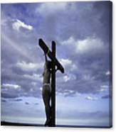 Crucifix In The Light Canvas Print