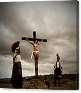 Crucifixion Scene Of Roman Movie Canvas Print