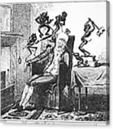 Cruikshank: Headache, 1819 Canvas Print