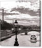 Cruise On The Seine Canvas Print