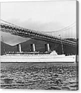 Cruise Ship Under Sf Bridge Canvas Print