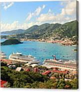 Cruise Ships In St. Thomas Usvi Canvas Print