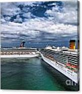 Cruise Ships Port Everglades Florida Canvas Print