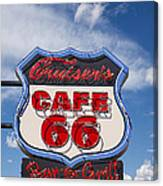 Cruisers Cafe 66 Sign Canvas Print