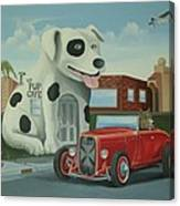 Cruisin' At The Pup Cafe Canvas Print
