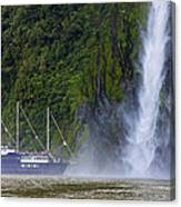 Cruising By A Waterfall Canvas Print