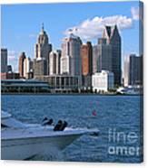 Cruising Past Detroit Canvas Print