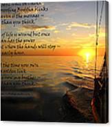 Cruising Poem Canvas Print