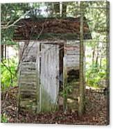 Crumbling Old Outhouse Canvas Print