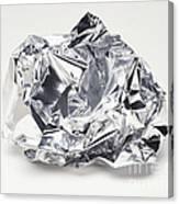 Crumpled Aluminum Foil Canvas Print