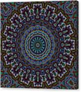 Crushed Blue Velvet Kaleidoscope Canvas Print