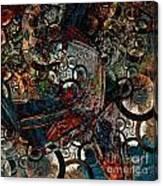 Crushed Spirals Canvas Print