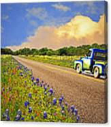 Crusin' The Hill Country In Spring Canvas Print