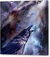 Cry Of The Raven Canvas Print