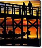 Crystal Beach Pier At Sunset II Canvas Print