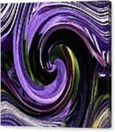 Crystal Fountain Twirls Canvas Print