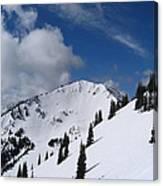 Crystal Mountain Bluest Sky Canvas Print