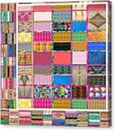 Crystal Stone Collage Layered In Small And Medium Sizes Variety Of Shades And Tones From Reiki Heali Canvas Print