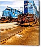 Csx Railroad Canvas Print