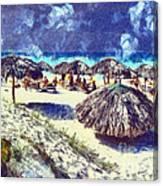 Cuban Beach Canvas Print