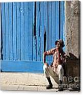 Cuban Man And His Cigar Canvas Print