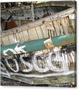 Cuban Refugees Boat 2 Canvas Print