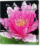 Cubed Lily Canvas Print