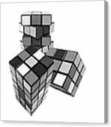 Cubed - Shades Of Grey Canvas Print