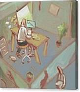 Cubicleism Canvas Print