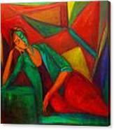 Cubism Contemplation  Canvas Print