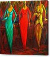 Cubism Dance II Canvas Print