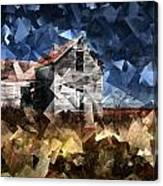 Cubist Abandoned Prairie Farm House Canvas Print