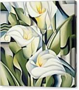 Cubist Lilies Canvas Print