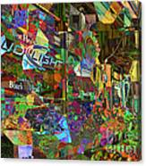 Night Market - Outdoor Markets Of New York City Canvas Print