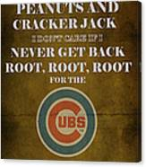 Cubs Peanuts And Cracker Jack  Canvas Print