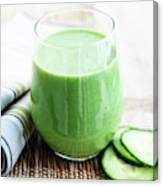 Cucumber Apple And Kale Smoothie Canvas Print