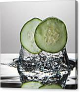 Cucumber Freshsplash Canvas Print