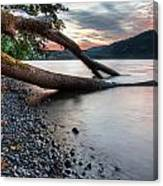 Cultus Lake Sunset Canvas Print