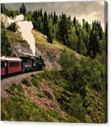 Cumbres And Toltec Train Co And Hm Canvas Print