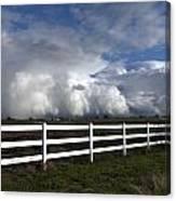 Cumulus Clouds Over Stockton Canvas Print